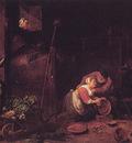 Der Alte Und Die Kuchenmagd After david Teniers D J