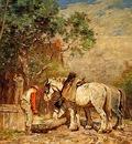 Horatio Walker Chevaux a LAbreuvoir, De