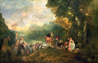 Watteau The Embarkation for Cythera, 1717, 129x194 cm, Louvr