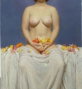 Flora, 44 x 26, oil on canvas 2000