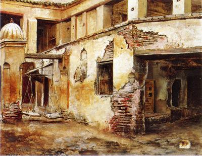 Weeks Edwin Lord Courtyard in Morocco