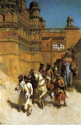 Weeks Edwin Lord The Maharahaj of Gwalior Before His Palace