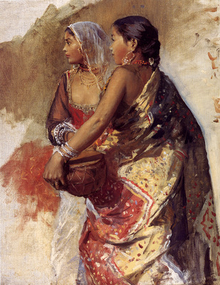 Weeks Edwin Sketch Two Nautch Girls