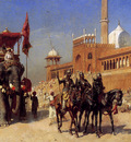 Weeks Edwin Great Mogul And His Court Returning From The Great Mosque At Delhi India