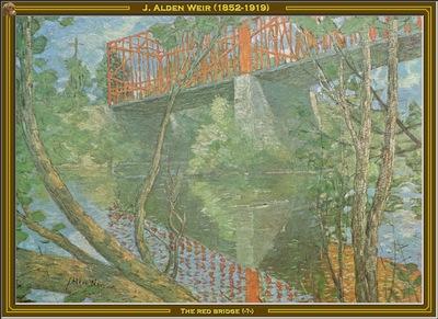 j alden weir the red bridge unk po amp