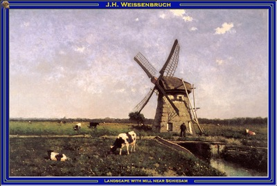PO Vp S2 02 Weissenbruch Landscape with mill near Schiedam