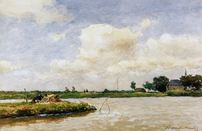 Weissenbruch Jan Polder at Noorden Sun