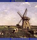 PO Vp S2 02 Weissenbruch Landscape with mill near Schiedam