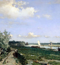 Weissenbruch Hendrik Canal at Rijswijk Sun