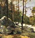Weissenbruch Hendrik Forest view at Barbizon Sun