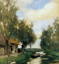 Weissenbruch Jan Farm on polder canal Sun