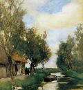 Weissenbruch Jan Farm on polder canal Sun