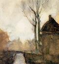 Weissenbruch Jan House near canal Sun