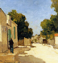 Weissenbruch Jan House of Millet at Barbizon Sun