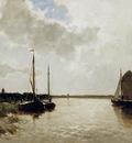Weissenbruch Jan Ships on canal Sun