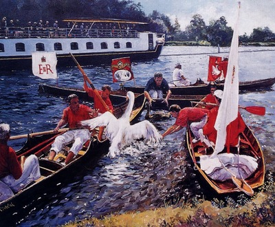 David Welsh Swan Upping, De