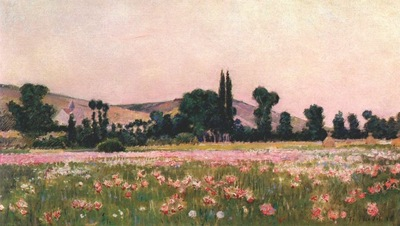 wendel flowering fields, giverny