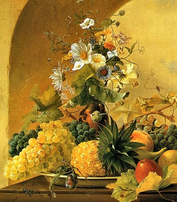 Michael Wentzel Still Life of Fruit and Flowers, De