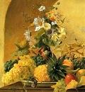 Michael Wentzel Still Life of Fruit and Flowers, De