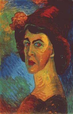 werefkin self portrait i c1910
