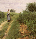 Werenskiold Erik Theodor Picking Flowers