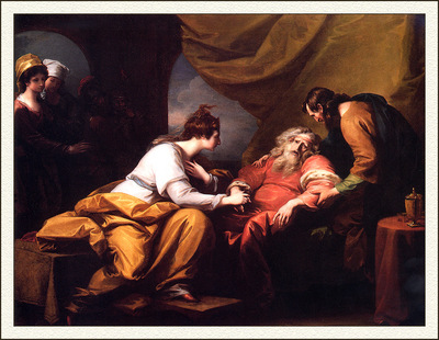 bs ahp Benjamin West Lear And Cordelia