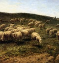 Westerbeek Cornelis Herdsman with sheep Sun