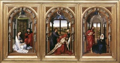 Weyden Mary Altarpiece Miraflores Altarpiece