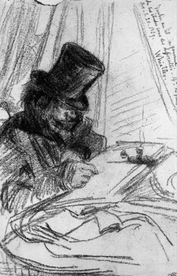 Whistler James Fantin Latour drawing Sun