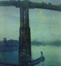 Whistler James McNeill Nocturne in blue and green