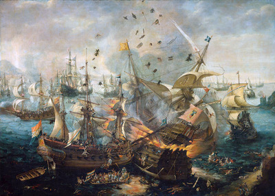 Wieringen van Cornelis Sea battle at Gibraltar Sun