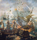 Wieringen van Cornelis Sea battle at Gibraltar Sun
