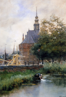 Wijsmuller Jan Washing at the sluice Sun