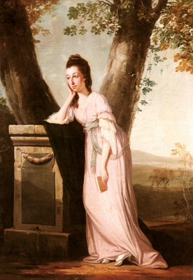 Wilson Benjamin Portrait Of A Lady Said To Be Thesesa Parker