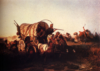 Wimar Charles Ferdinand The Attack On The Emigrant Train