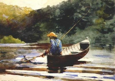 homer boy fishing
