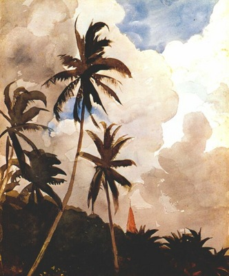 homer palm trees bahamas c1888