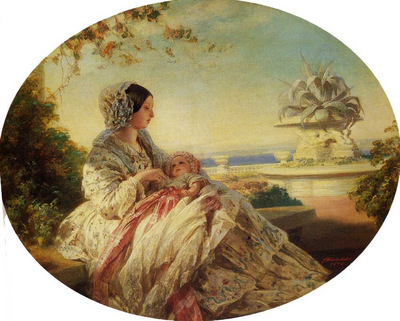 Winterhalter Franz Xavier Queen Victoria with Prince Arthur