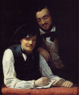 Winterhalter Franz Xavier Self Portrait of the Artist with his Brother Hermann