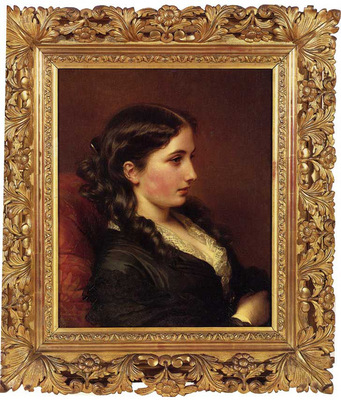 Winterhalter Franz Xavier Study of a Girl in Profile