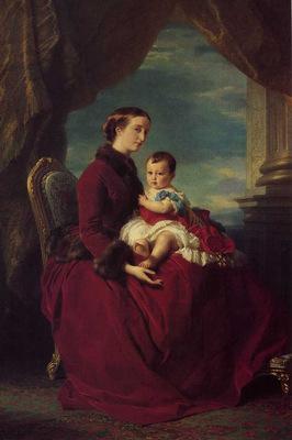 Winterhalter Franz Xavier The Empress Eugenie Holding Louis Napoleon the Prince Imperial on her K