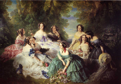 Winterhalter Franz Xavier The Empress Eugenie Surrounded by her Ladies in Waiting