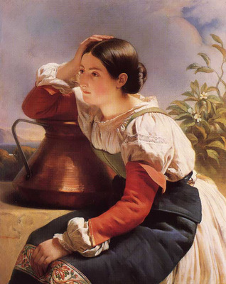 Winterhalter Franz Xavier Young Italian Girl by the Well