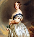Winterhalter, Franz Xaver The Young Queen Victoria end