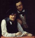 Winterhalter Franz Xavier Self Portrait of the Artist with his Brother Hermann
