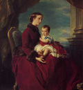 Winterhalter Franz Xavier The Empress Eugenie Holding Louis Napoleon the Prince Imperial on her K