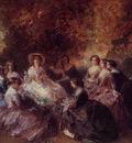 winterhalter franz xavier the empress eugenie surrounded by her ladies in waiting