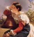 Winterhalter Franz Xavier Young Italian Girl by the Well