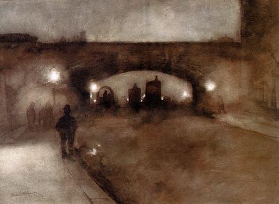 Witsen Willem Waterloo bridge at night