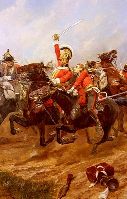 Woodville Richard Caton Life Guards Charging At The Battle Of Waterloo